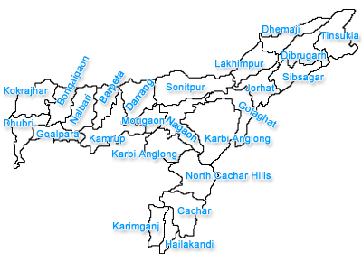 Assam city map