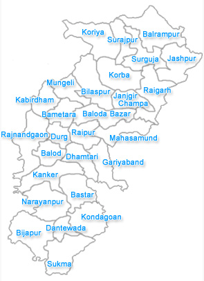 Chhattisgarh city map