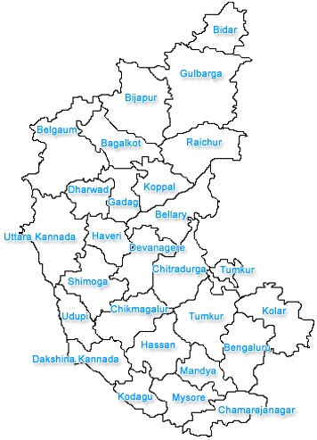 Karnataka City Map