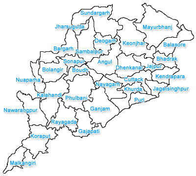 Orissa City Map