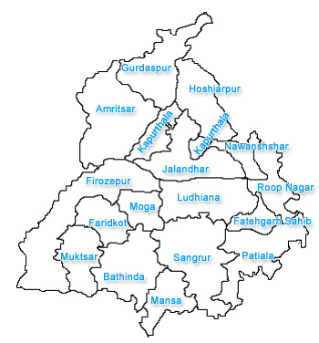 Punjab City Map
