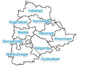 Telangana city map