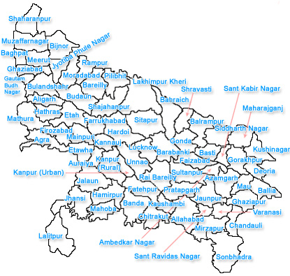 Uttar pradesh City Map