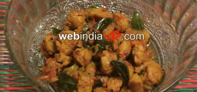 how to make soya chunks fry