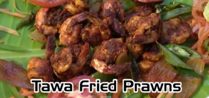 Tawa Fried Prawns