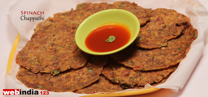 Spinach Chappathi