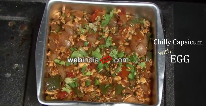 Chilly Capsicum with Egg