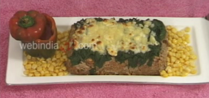 Spinach Topped-Meat Loaf
