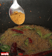 mustard, red chillies, curry leaves