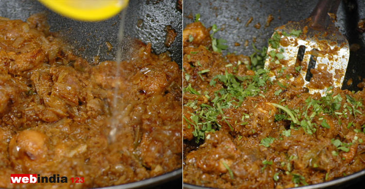 pepper powder and chopped coriander leaves
