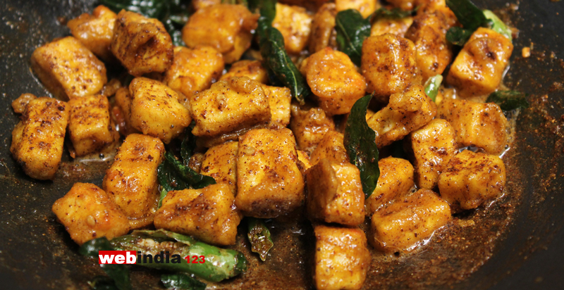add the fried paneer pieces