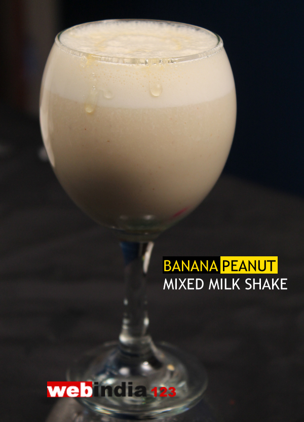 Banana Peanut Mixed Milk Shake