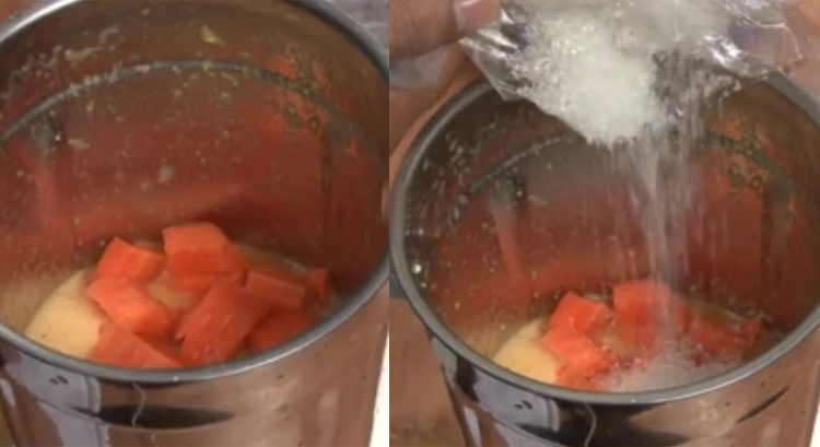 chopped carrot along with some sugar