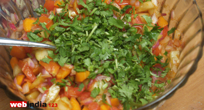 add coriander leaves
