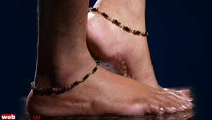 Crystal Beaded Anklet