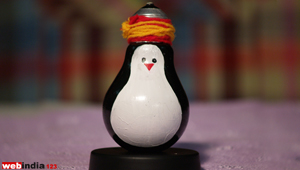 Glass Bulb Penguin