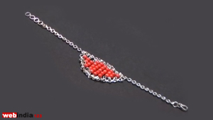 Ruby-Bead chain Bracelet