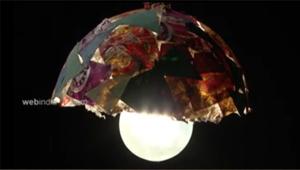 Paper Mache light Shade