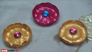 Decorated Plastic Flowers