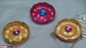 Decorated Plastic Flowers