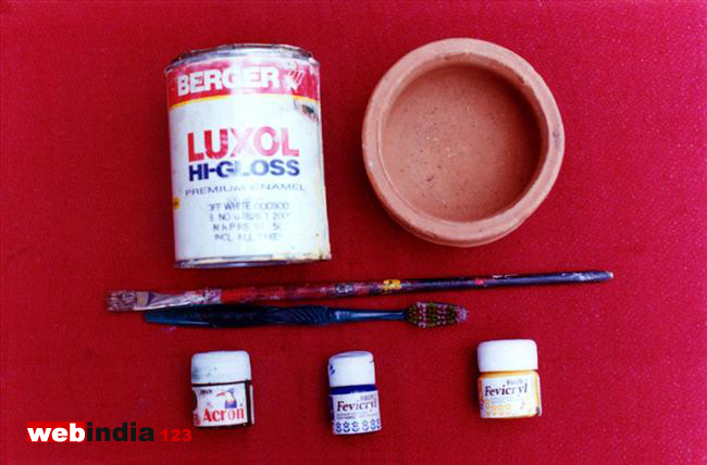 Pot painting method iii how to make pot painting method for Pot painting materials required