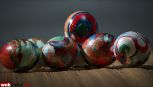 Water Marble Easter Eggs