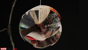 Paper Ball Christmas Ornament