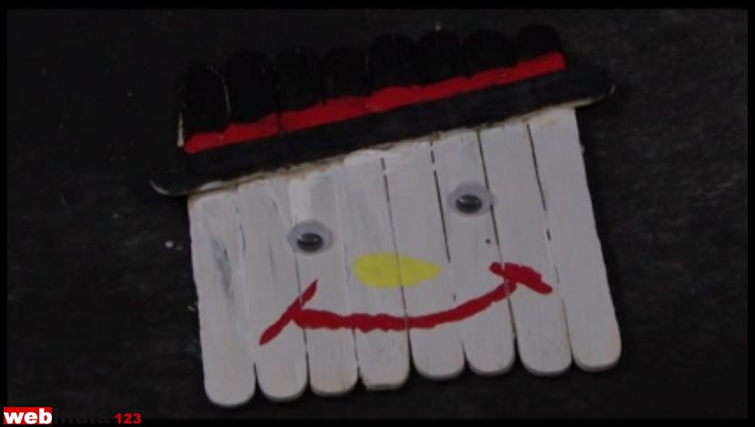 Popsicle snowman