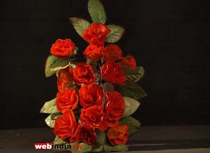 ORANGE LISIANTHUS FLOWER
