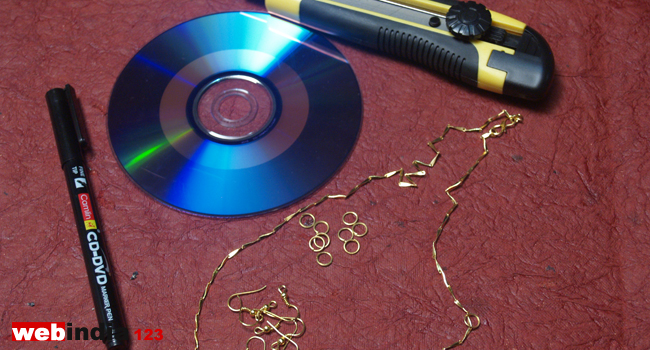Upcycled CD Jewelry Materials