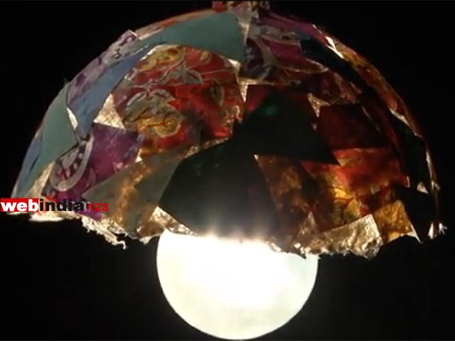 Paper mache light shadehow to make paper mache light shadecraft paper made light shade mozeypictures Choice Image