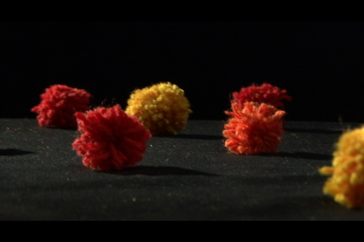 Pom poms in different colours