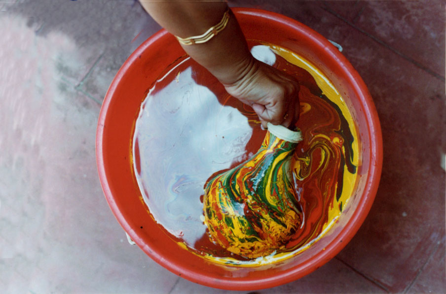 home crafts pot painting at home