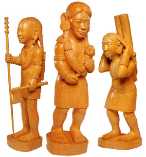 Crafts Arunachali Wood Carvings Of Arunachal Pradesh