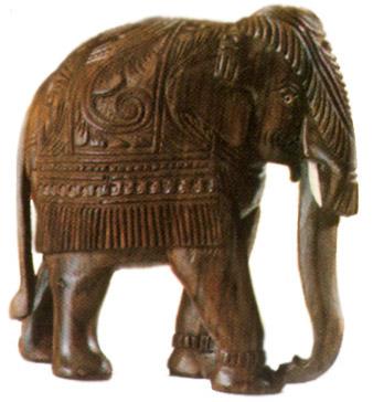 Crafts Of Kerala Wood Carving Elephant Indian Handicrafts
