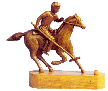Crafts Of Manipur Wooden Polo Player Indian Handicrafts