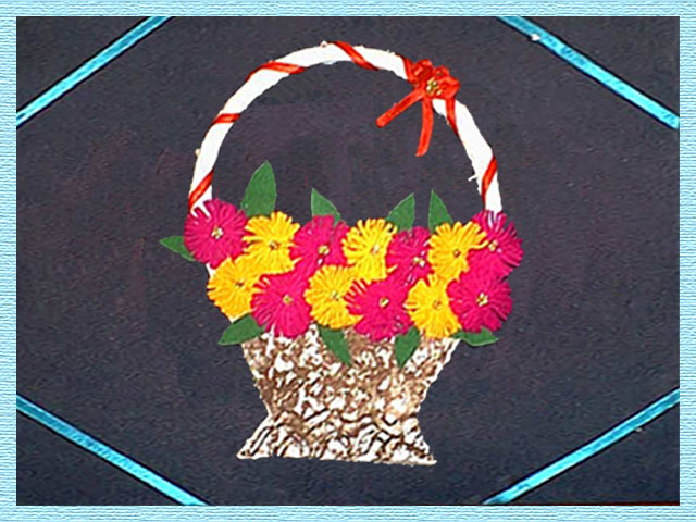 Home Crafts Flower Basket Wall Hangings At Home