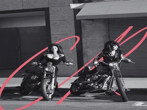 Kim Kardashian twins with Naomi Campbell and Cher for photoshoot