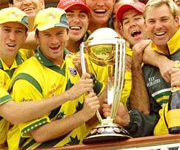 Steve Waugh lifts world cup for Australia