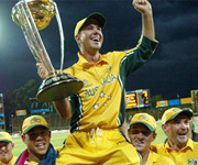 Ricky Ponting lifts world cup for Australia