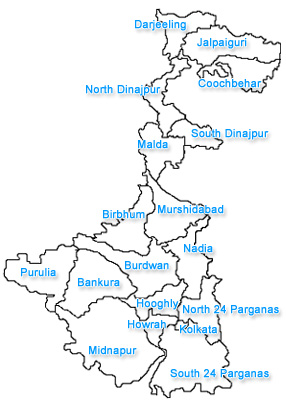 Webindia123 Com West Bengal Land Of West Bengal Districts Of West Bengal