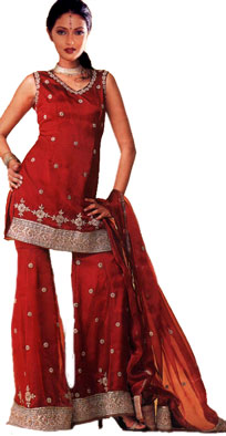 beautiful Minissha Lamba Indian Fashion Winter Dresses Collection 2013-2014 For Women (3